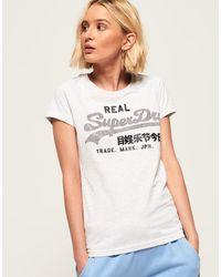 Superdry - Vintage Logo Rhinestone T-shirt - Lyst
