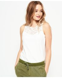 Superdry - Ivy Lace Vest Top - Lyst