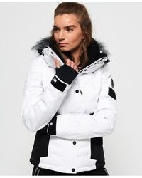 Superdry Luxe Snow Puffer Jacket in Acid Pink (Pink) Save
