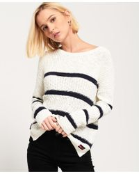 Superdry - Atlantic Stripe Rib Knit Jumper - Lyst