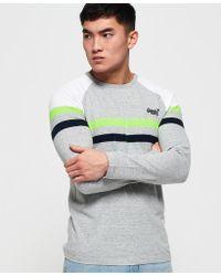 5ee583f06b Superdry - Orange Label Engineered Panel Long Sleeve T-shirt - Lyst