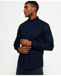 Superdry - Tailored Long Sleeved Slim Shirt - Lyst