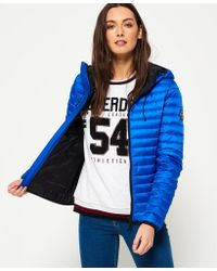 Superdry - Core Down Hooded Jacket - Lyst