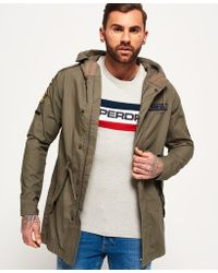 Superdry - Rookie Aviator Patched Parka Jacket - Lyst