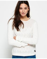 Superdry - Embroidered Boho Crew Neck Jumper - Lyst
