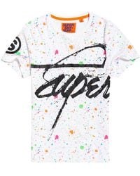 Superdry - Crew Paint Splatter T-shirt - Lyst
