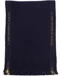 Y's Yohji Yamamoto - Navy Blue Wool Scarf - Lyst