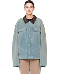 Yeezy - Flannel Lined Canvas Jacket - Lyst