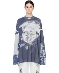 Vetements - Weltschmerz Cotton Top With Faded Print - Lyst