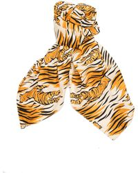 The Soloist - Cotton Scarf Printed In Tiger Stripes - Lyst