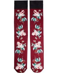 Undercover - Floral Printed Socks - Lyst