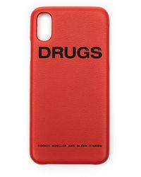 Raf Simons - Orange 'drugs' Iphone X Case - Lyst