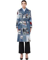 Junya Watanabe - Denim Patchwork Coat - Lyst