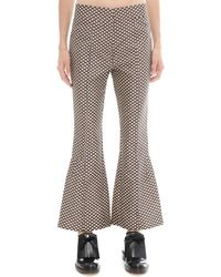 Marni - Cotton And Silk Trousers - Lyst