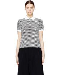 Junya Watanabe - Patterned Rayon Polo T-shirt - Lyst