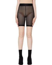 John Elliott Black Lace Biker Shorts
