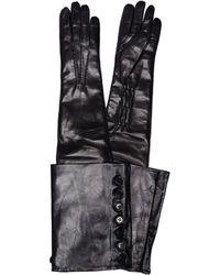 Ann Demeulemeester - Joris Black Leather Gloves - Lyst