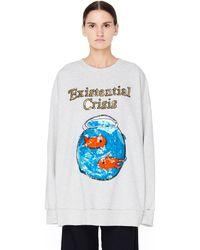 Ashish - Grey Sequined Sweatshirt - Lyst