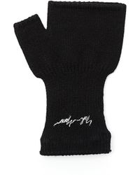 Yohji Yamamoto - Black Logo Printed Glove - Lyst