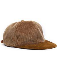 Hender Scheme - Leather Brim Corduroy Cap - Lyst