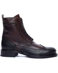 Ann Demeulemeester - Gradient Leather Hi-top Brogues - Lyst