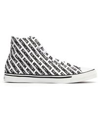 Vetements - White Logo Printed Converse Sneakers - Lyst
