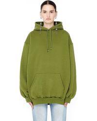 Balenciaga - Women's Green Logo Hoodie - Lyst