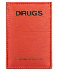 Raf Simons - Orange 'drugs' Cardholder - Lyst
