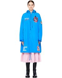 Undercover - Total Youth Printed Blue Raincoat - Lyst