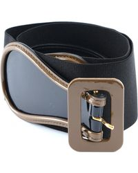 Marni - Leather And Textile Belt - Lyst