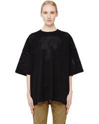 Fear Of God - Black Mesh T-shirt - Lyst