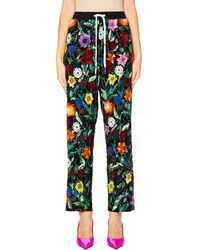 Ashish - Pajama Trousers With Flower Embroidery - Lyst