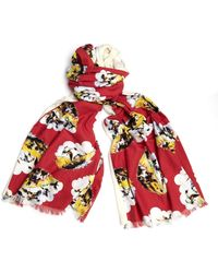 Undercover - Cotton And Wool Scarf - Lyst