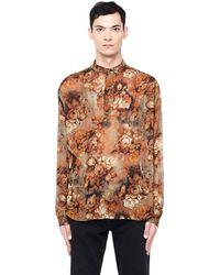 Enfants Riches Deprimes - Silk Georgette Floral Shirt - Lyst