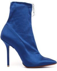 Vetements - Raw Edge Satin Ankle Boots - Lyst