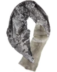 32 Paradis Sprung Freres - Astrakhan And Mink Fur Scarf - Lyst