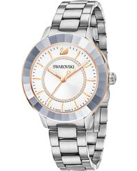 0468910e5 Lyst - Swarovski Womens Swiss Octea Lady Stainless Steel Bracelet in ...