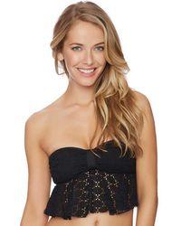 Ella Moss - The Lover Bandeau Bikini Top Color: Black Size: S - Lyst