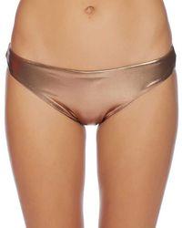 Luxe by Lisa Vogel - Premiere Beach Bikini Bottom Color: Gold Size: Xs - Lyst