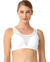 Anne Cole - Crochet All Day Over The Shoulder Bralette Swim Top - Lyst