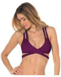 Becca - Color Code Wrap Halter Swim Top - Lyst