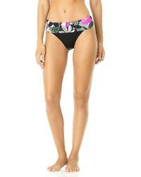 2b0f8d87d4379 Luli Fama Beach Babe Multi-Strap Bikini Bottoms in Black - Lyst