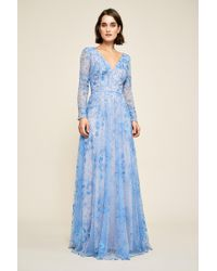 Tadashi Shoji - Apollonia Embroidered Long Sleeve Gown - Lyst