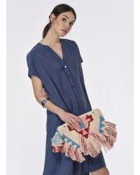 Roman - Short Sleeve Midi Dress - Lyst