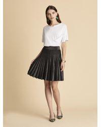 Roman - Pleated Knitwear Mini Skirt - Lyst