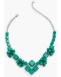 Talbots | Petals & Squares Statement Necklace | Lyst