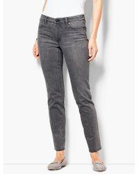 Talbots - Slim Ankle Jeans - Luna Grey - Lyst