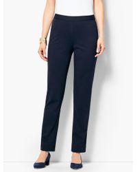 Talbots - Refined Ponte Pull-on Slim-leg Pant - Lyst