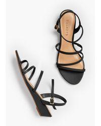 Talbots - Capri Multi-strap Mini-wedge Sandals - Lyst