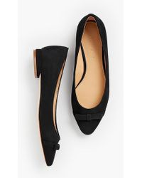 Talbots - Edison Bow-detail Flats - Solid - Lyst